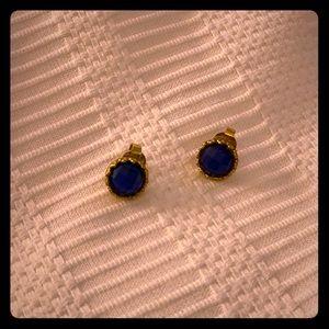 Sapphire Crystal Stud Earrings - Rivka Friedman